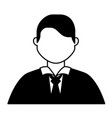 businessman character portrait isolated image vector image vector image