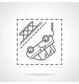 Car evacuation flat line icon vector image