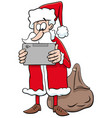 cartoon santa claus christmas character with vector image vector image