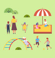 children spending time at playground kids have vector image