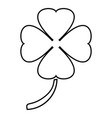 clover icon black color flat style simple image vector image