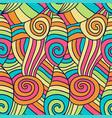 colorfu abstract waves pattern hand drawn spiral vector image vector image