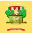 cotton candy trolley and vector image