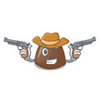 cowboy chocolate candies character cartoon vector image vector image