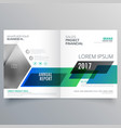 creative business brochure bifold template design vector image vector image