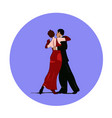dance pair in tango passion isolated sign vector image vector image