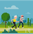 elderly fitness concept vector image
