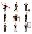 failed businessman character set business and vector image vector image
