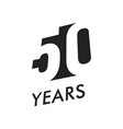 fifty years emblem template anniversary vector image vector image