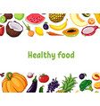 fruits and vegetables with vector image