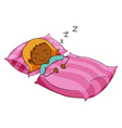Girl sleeping vector image vector image