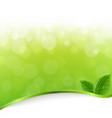 green nature bokeh vector image