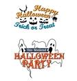 Happy Halloween party advertisement vector image