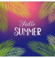Hello Summer tropical background vector image vector image