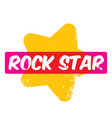 hipster cartoon retro label rock star vector image vector image