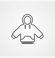 hoodie icon sign symbol vector image