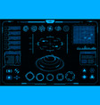 hud interface cyberpunk virtual car and vr game vector image