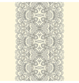 Lace fabric seamless border with abstract ornament vector image