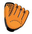 leather baseball glove vector image vector image