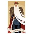 major arcana tarot cards emperor man vector image vector image