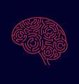 maze brain vector image