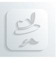 Oktoberfest hat mustache icon vector image