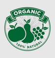 organic natural product logo or label vector image vector image