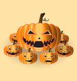 pumpkins halloween vector image vector image