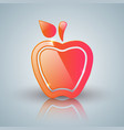 red apple icon with white reflect vector image vector image
