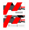 red cool business card template vector image vector image