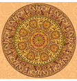 Round seamless ornament in ethnic style