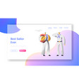 sailor characters website landing page nautical vector image vector image