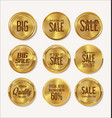 sale retro vintage golden badges and labels vector image vector image