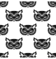 seamless pattern with black owl head vector image vector image