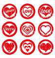 set love rubber stamp valentines day stamps vector image vector image
