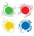 Set of Abstract Circles Badges vector image vector image