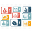 Set of design icons for Business vector image