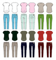 Set of womens clothes vector image vector image