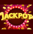 signboard with lamps border for lottery casino vector image vector image