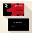 simple red spot black business card design eps10 vector image vector image