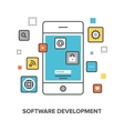 software development concept vector image vector image