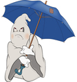 Spirit and an umbrella vector | Price: 1 Credit (USD $1)