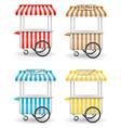 street food cart vector image vector image