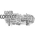 web design content procurement text word cloud vector image vector image