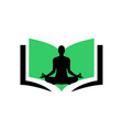 Yoga meditation book logo icon concept design