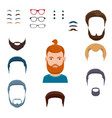 male face creation set vector image