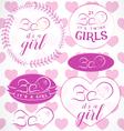 Pink Baby Girl Badge Set vector image
