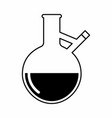 a lab flask vector image vector image