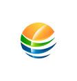 abstract sphere logo symbol icon desin vector image vector image