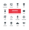 awards - line design silhouette icons set vector image vector image